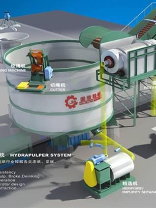 Paper pulp processing equipment